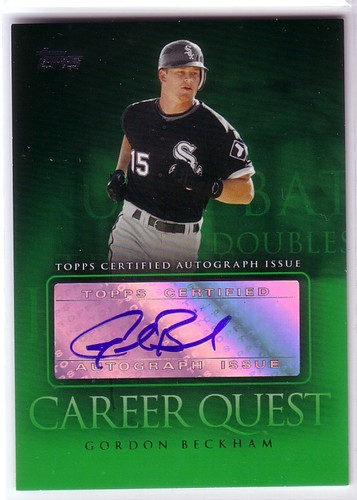Photo of 2009 Topps Update Career Quest Autographs #GB Gordon Beckham