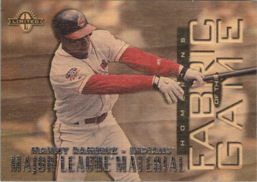 Photo of 1997 Donruss Limited Fabric of the Game #9 Manny Ramirez ML