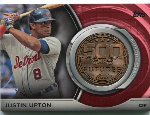 Photo of 2016 Topps Update 500 HR Futures Club Medallions #500M14 Justin Upton