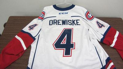 AHL WHITE GAME ISSUED DAVIS DREWISKE JERSEY SIGNED (2 OF 2)