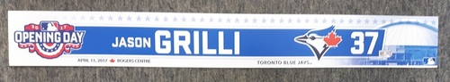 Photo of Authenticated Game Used 2017 Home Opener Locker Tag - #37 Jason Grilli