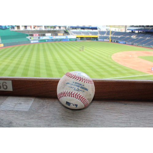 Photo of Game-Used Baseball: Jason Hammel Strikeout (4/12/17)