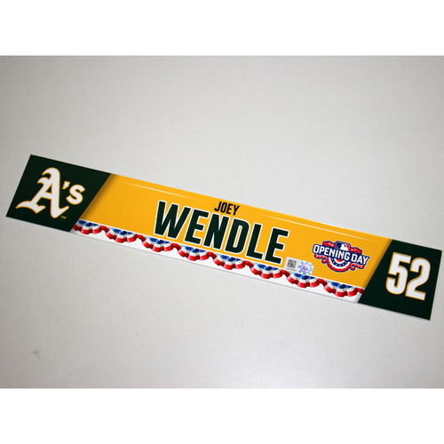 Photo of Joey Wendle 2017 Opening Day Locker Nameplate
