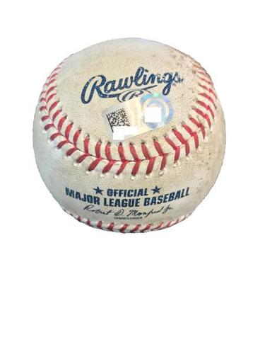Photo of Game-Used Baseball from Pirates vs. Rays on 6/27/17 - Williams vs. Smith, Dickerson - 1 Pitch/K Swinging by Smith, Dickerson Single