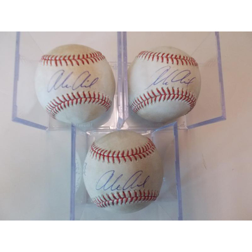 Photo of Set of Three Autographed Player Collected Alex Avila Home Run Baseballs