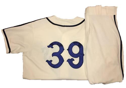 Photo of Chad Kuhl Game-Used Homestead Greys Jersey and Pants