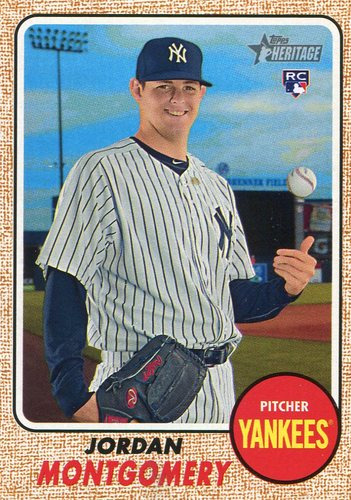 Photo of 2017 Topps Heritage #646A Jordan Montgomery Rookie Card -- Yankees post-season