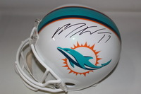 DOLPHINS - MIKE WALLACE SIGNED DOLPHINS REPLICA HELMET