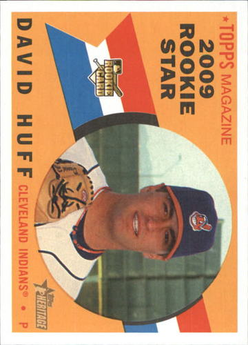 Photo of 2009 Topps Heritage #557 David Huff RC
