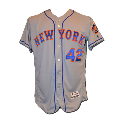 Photo of Jay Bruce #19 - Game Used Jackie Robinson Jersey - Mets vs. Marlins - 4/15/17