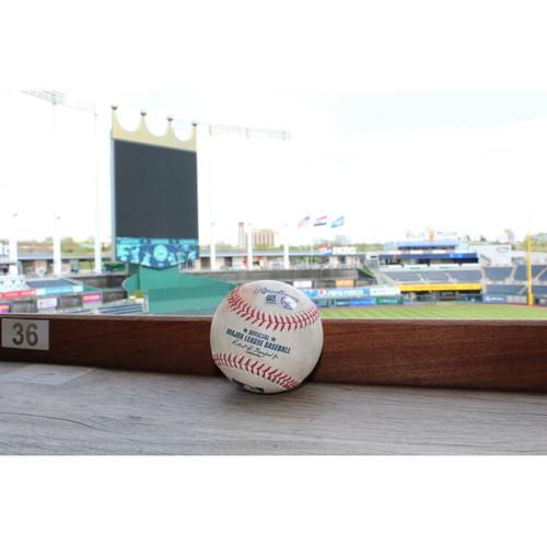 Photo of Game-Used Baseball: Lorenzo Cain Single (4/15/17)