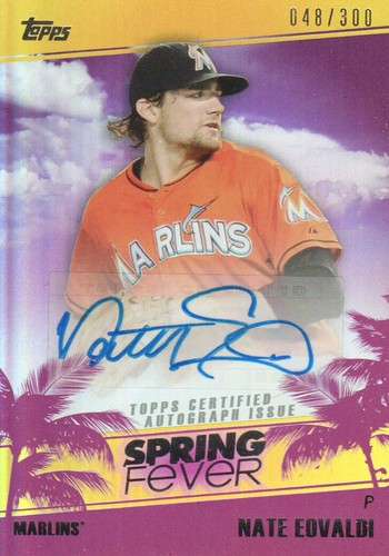 Photo of 2014 Topps Spring Fever Autographs #SFANE Nate Eovaldi/300