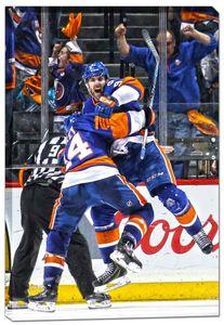John Tavares - 20x29 New York Islanders Celebrating Canvas - 2016 Stanley Cup Playoffs