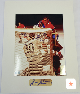 Jean Beliveau (deceased) Limited Edition Signature Montreal Canadiens ET LE BUT 8x10 Custom Matted Photo