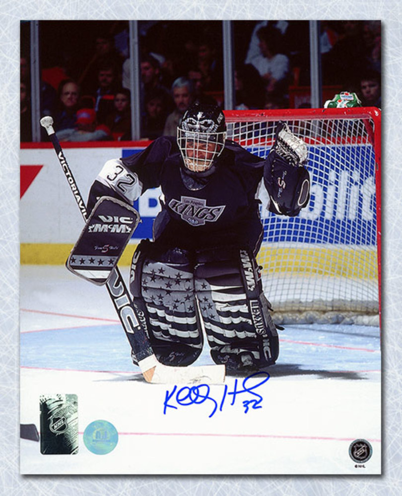 Kelly Hrudy Los Angeles Kings Autographed Hockey Goalie 8x10 Photo