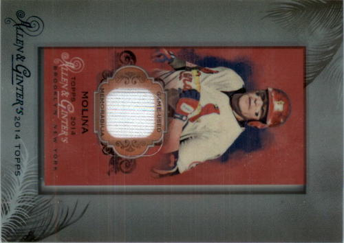 Photo of 2014 Topps Allen and Ginter Mini Framed Relics #RBYM Yadier Molina B