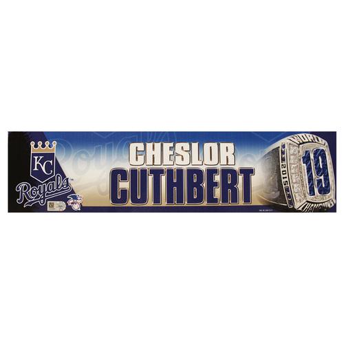 Photo of Cheslor Cuthbert 2016 Locker Nameplate