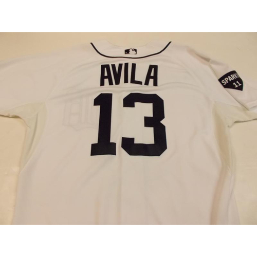 Photo of Game-Used Alex Avila Home Jersey with Sparky Patch