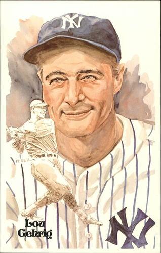 Photo of 1980-02 Perez-Steele Hall of Fame Postcards #22 Lou Gehrig -- Set #08689