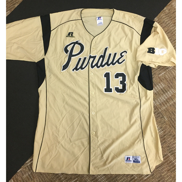 Purdue Baseball #13 Gold Game-Worn Jersey