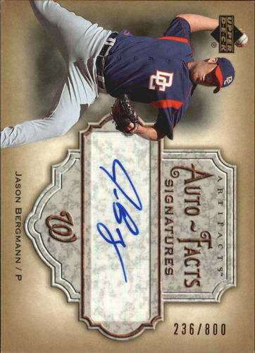 Photo of 2006 Artifacts Auto-Facts Signatures #BE Jason Bergmann/800