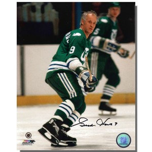Gordie Howe Autographed Hartfore Whalers 8x10 Photo