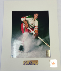 Jean Beliveau (deceased) Limited Edition Signature Montreal Canadiens QUEBEC ACES 8x10 Custom Matted Photo