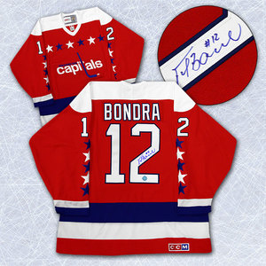 Peter Bondra Washington Capitals Autographed Retro CCM Rookie Hockey Jersey