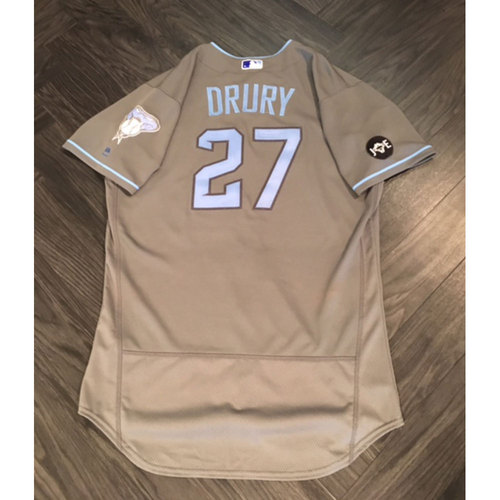 Photo of Brandon Drury Game-Used Father's Day Jersey
