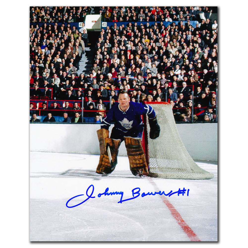 Johnny Bower Toronto Maple Leafs MLG ACTION Autographed 8x10