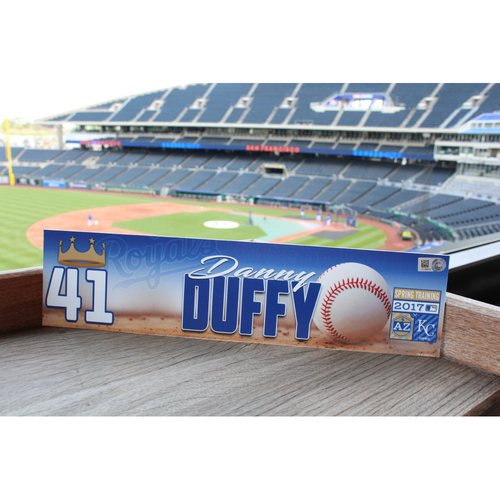 Photo of Danny Duffy 2017 Spring Training Nameplate