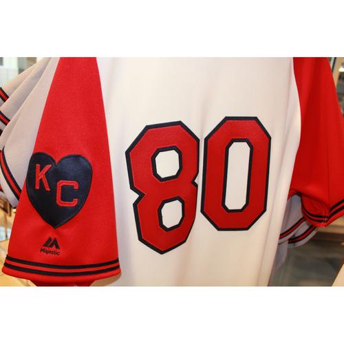 Photo of Ryan Eigsti Game-Used Kansas City Monarchs Jersey (5/7/2017) (Size 46)