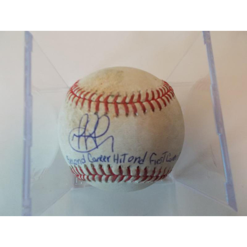 Photo of Autographed Game-Used Baseball: Dixon Machado 2nd Career Hit-1st Career Double