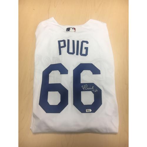 Photo of LA Dodgers Foundation Online Auction: Yasiel Puig Authentic Autographed Jersey