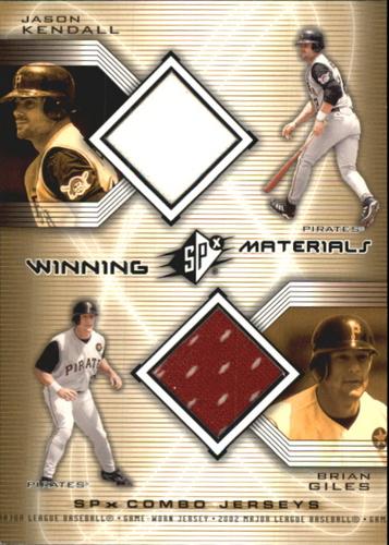 Photo of 2002 SPx Winning Materials 2-Player Jersey Combos #WMKG Jason Kendall/Brian Giles