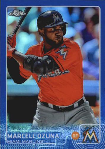 Photo of 2015 Topps Chrome Blue Refractors #182 Marcell Ozuna