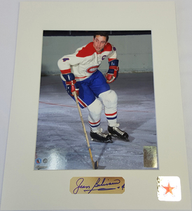 Jean Beliveau (deceased) Limited Edition Signature Montreal Canadiens LE GROS BILL 8x10 Custom Matted Photo
