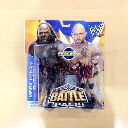 Mark Henry & Ryback SIGNED Battlepack Action Figures
