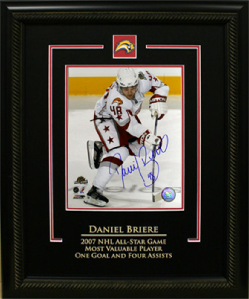 D. Briere Signed 8x10 Sabres Etched 2007 All Star