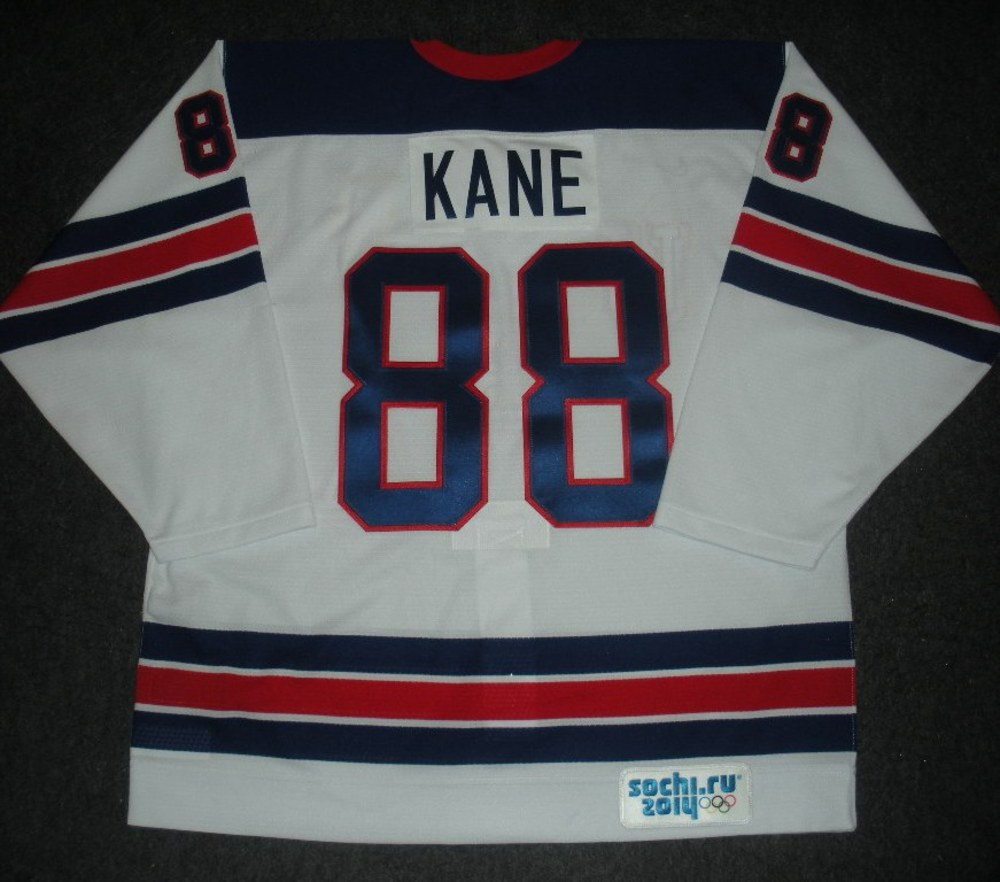 Patrick Kane - Sochi 2014 - Winter Olympic Games - Team USA Throwback Game-Worn Jersey - Worn in Warmups and 1st Period vs. Slovenia, 2/16/14