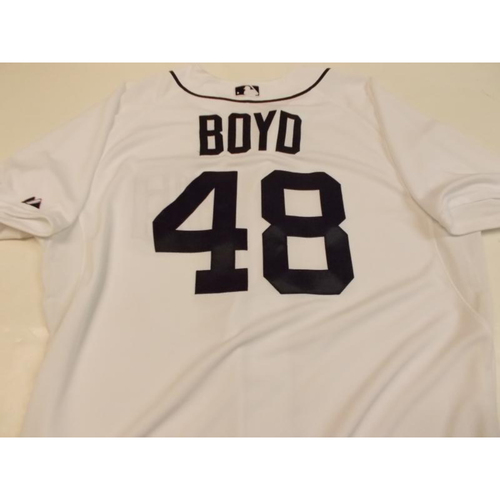 Photo of Game-Used Matt Boyd Home Jersey