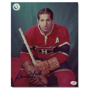 Elmer Lach Autographed Montreal Canadians 8x10 Photo