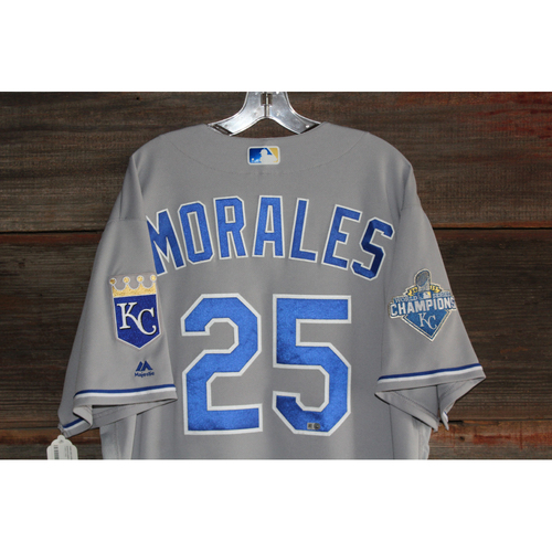 Photo of Kendrys Morales Game-Used Jersey (September 21, 2016 - KC at CLE) (Size 50)