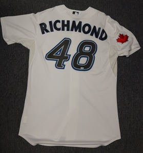 Toronto Blue Jays Authenticated Team Issued 2011 Jersey - #48 Scott Richmond