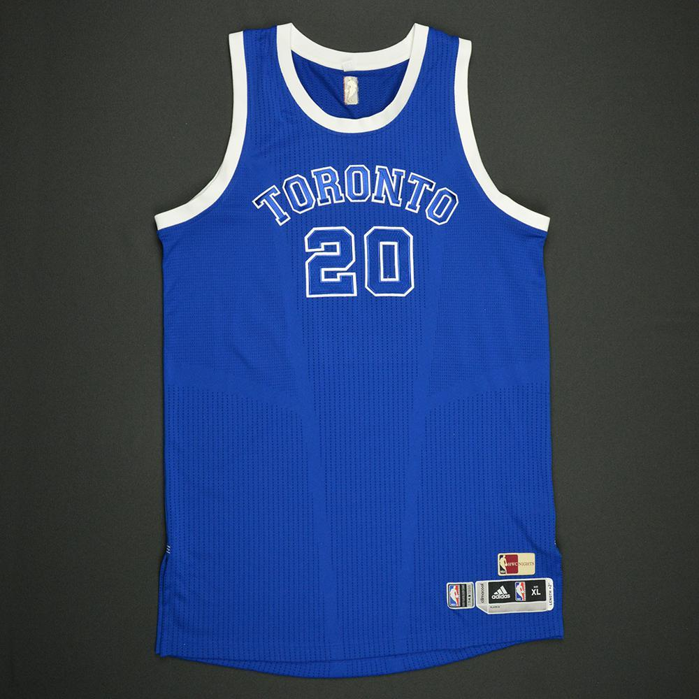 Bruno Caboclo - Toronto Raptors - Game-Issued Blue '1946-47 Road Hardwood Classics' Jersey - 2016-17 Season