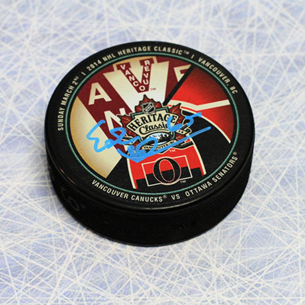 Erik Karlsson Ottawa Senators Autographed 2014 Heritage Classic Hockey Puck