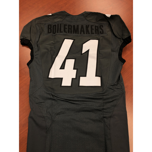 Gray Purdue Boilermakers #41 Football Jersey Size 40