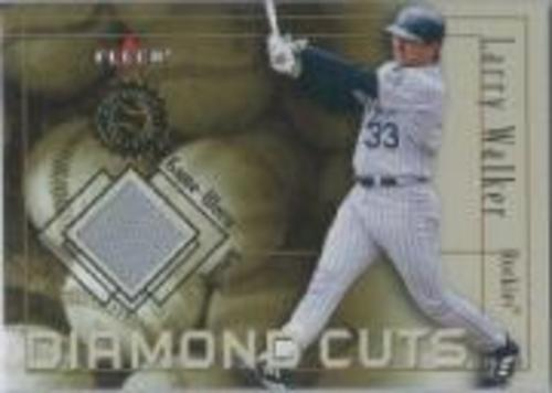 Photo of 2001 Fleer Authority Diamond Cuts Memorabilia #110 Larry Walker Jsy/1000