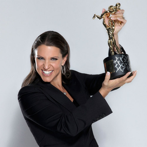 Stephanie McMahon SIGNED WWE Replica Slammy Award