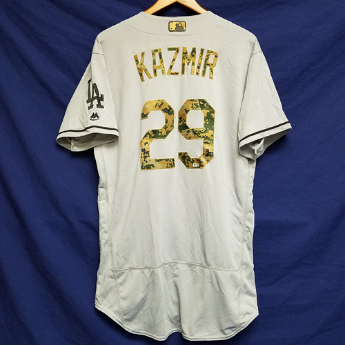 Photo of Scott Kazmir 2016 Game-Used Road Memorial Day Jersey